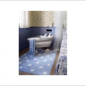 Angela Pinheiro Carpete Lorena Starts Blue White Perspectiva