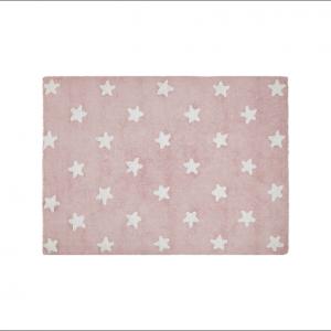 Angela Pinheiro Carpete Lorena Starts Pink White