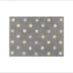 Angela Pinheiro Carpete Lorena Tricolor Stars Grey Blue