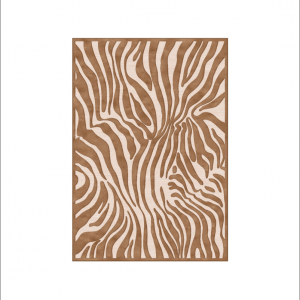 Angela Pinheiro Carpete Provence Zebra Castanho