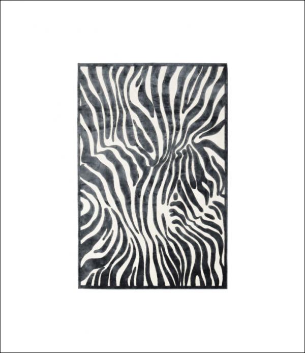 Angela Pinheiro Carpete Provence Zebra Preto Branco