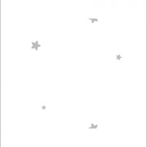 Angela Pinheiro Papel Parede Fiona Little World Estrelas Branco