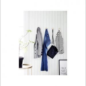 Angela Pinheiro Papel Parede Sand Berg Scandinavian Stripes Risca Azul Claro Perspectiva