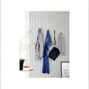 Angela Pinheiro Papel Parede Sand Berg Scandinavian Stripes Risca Azul Perspectiva