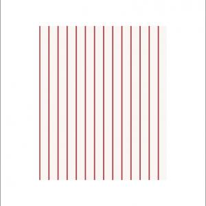 Angela Pinheiro Papel Parede Sand Berg Scandinavian Stripes Risca Vermelha Pormenor