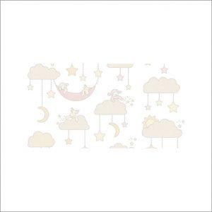 Angela Pinheiro Papel de Parede Nuvens Bege