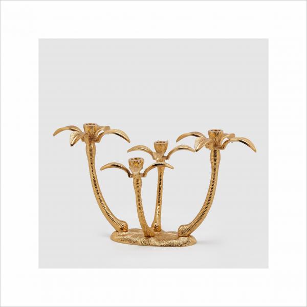 Angela Pinheiro Decoração Castiçal Dourado